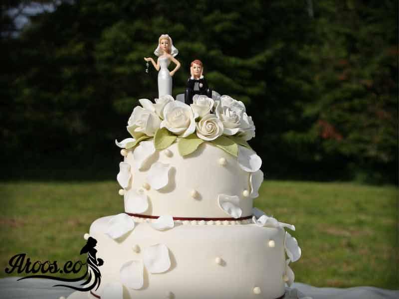 کیک عقد دو طبقه