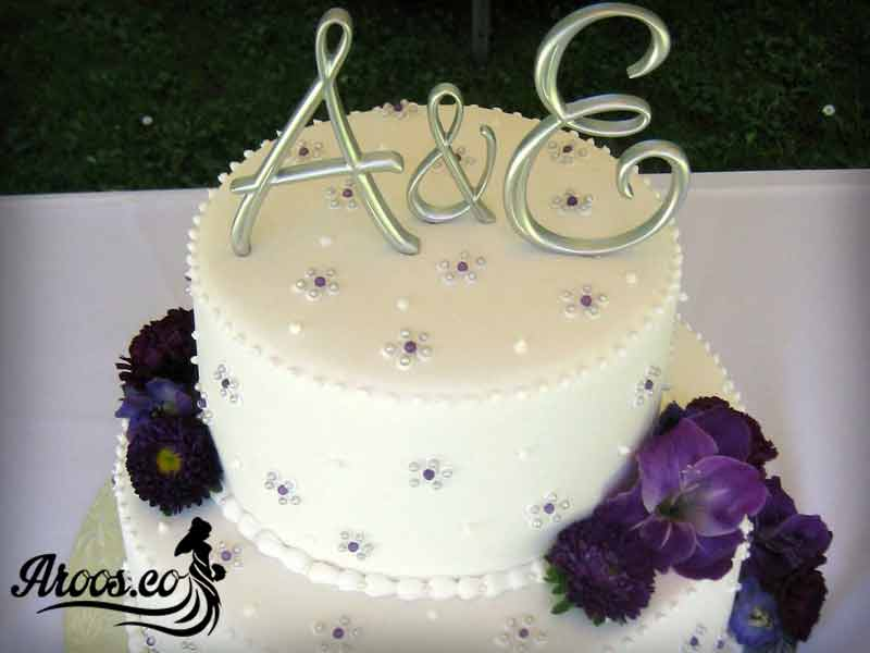 کیک عروسی دو طبقه