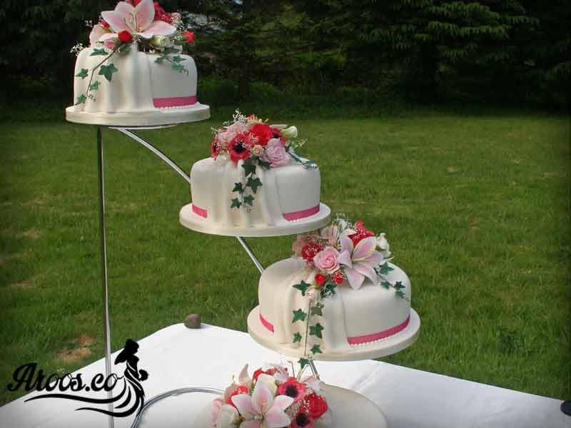 کیک چند طبقه عروسی