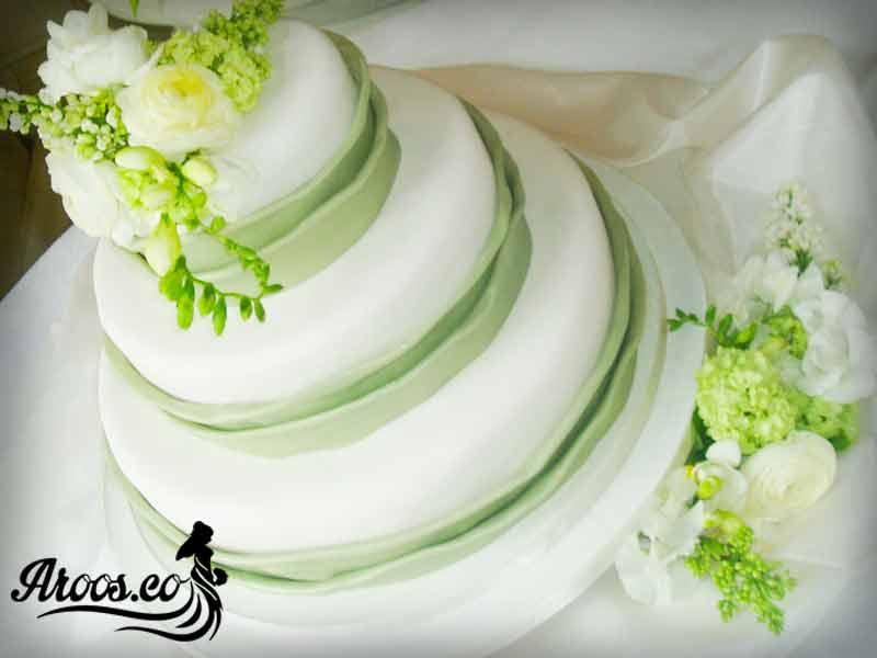 مدل کیک عروسی طبقه ای باکلاس