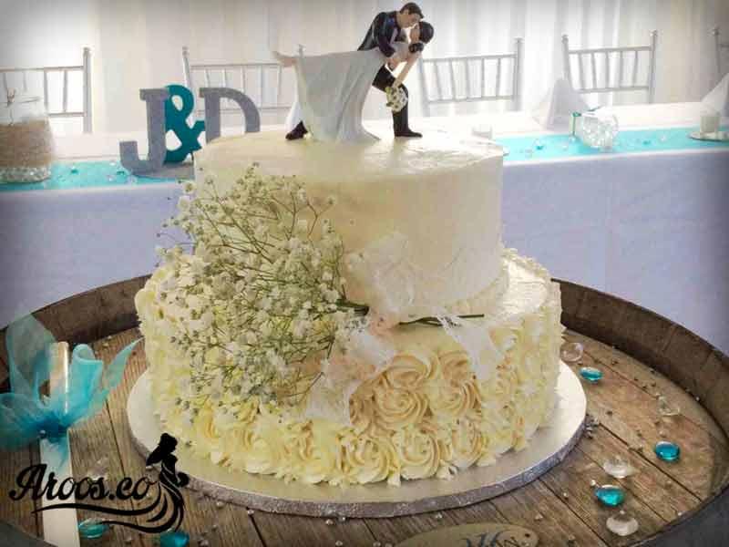 کیک عروسی با تزیینات